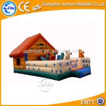 Diseño especial casa inflable de la gorila / interior mini castillo hinchable / bouncers animales inflables
