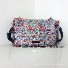 Fashion Style Mini Lady PU Woven Chain Leather Handbags (NMDK-032904)