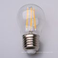 2W 4W G45 E27 Glas Glühfäden LED Birne