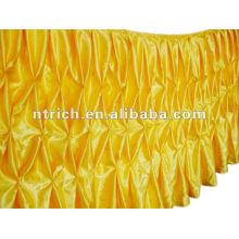 Magnificent satin honeycomb table cloth/table skirt