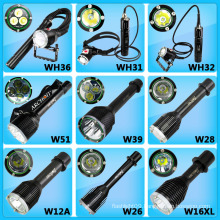 New Diving Flashlight! 26650 Battery Powered Magnetic Switch LED Diving Torch LED Headlight LED Flashlight
