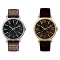 New Style Marble Dial Fashion Stainless Steel Quartz Watch Bg-086