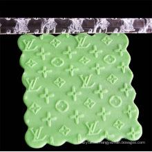 DIY Fondant Transparent Acrylic Carved Rolling Pin Cartoon Pattern Geometric Mini Non-Stick Acrylic Rolling Pin