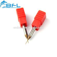 Coupeur profond TiSiN de cannelure de carbure solide de BFL enduit pour la coupe en métal