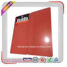 Revestimiento de polvo de pintura en aerosol rojo metálico brillante oro personalizado del color