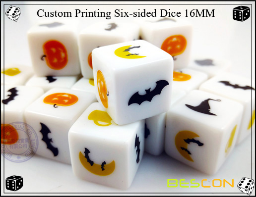 Custom Printing Six sided Dice 16MM