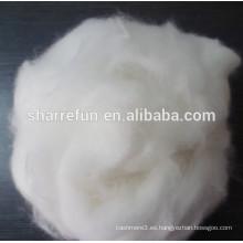 Pure Dehaired Angora Rabbit Fiber White 15.0MIC / 32-34MM blanco