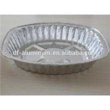 Papel de aluminio desechable de forma ovalada