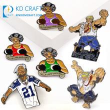 Wholesale No Minimum Custom Metal Soft Enamel Glitter Martial Arts Karate Taekwondo Boxing Kickboxing Sports Lapel Pins for Sale