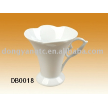 Caneca de café branca lisa por atacado direta da fábrica