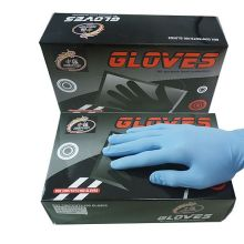 Rubber Latex Black Tattoo Gloves