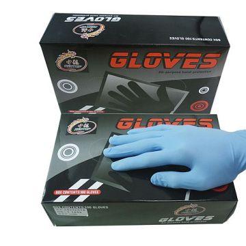 Gummi Latex Schwarz Tattoo Handschuhe