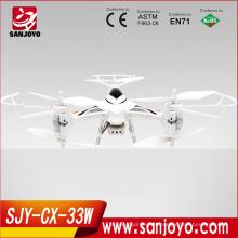 nuevo y caliente drone CX-33W quadcopter control de aplicaciones DRONE rc fpv quadcopter control WIFI con helicóptero ligero