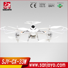 new and hot drone CX-33W quadcopter app control DRONE rc fpv quadcopter WIFI control with light helicopter