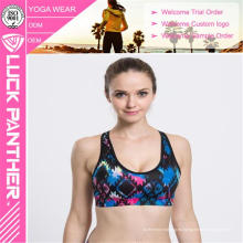 Nueva costumbre de la moda Hacer Sublimado Fitness Push Up Sports Bra