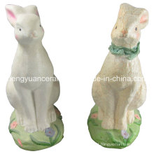Coelho de porcelana em forma de animal, Coelho de Páscoa