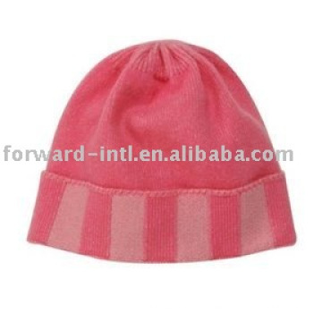 pink cashmere hat