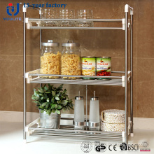 Three Layer Stainless Steel Kitchen Spice Rack