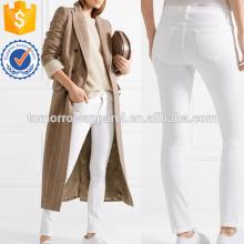 Белый средней высоты узкие джинсы Производство Оптовая продажа женской одежды (TA3055P)