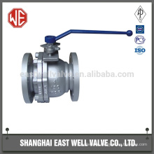 Trunnion mounted flanged ball valve