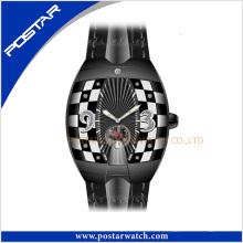 La montre en cuir montre-bracelet suisse automatique Psd-2325