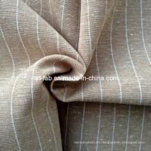 Lino / hilado de algodón teñido tejido (QF13-0769)