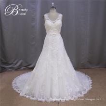 Cintas de espaguete de vestido de casamento do laço