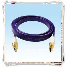 Gold-überzogene HDMI Kabelschnur für Goldkopf Draht für HDTV