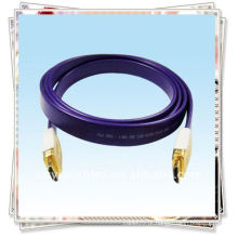 Cabo banhado a ouro Cabo HDMI para fio de cabeça de ouro para HDTV