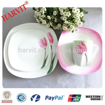 16pcs/18pcs Square Porcelain Dinner Set
