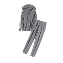 PK18ST064 jogger yoga set cashmere sweater for woman