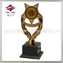 Copa de trofeo de plástico barato de bronce antiguo pequeño trofeo