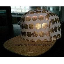 PU-Kronen-Cacvas-Brim-Art- und Weisegewohnheit Hip-Hop-Hut