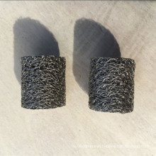 Stainless steel cylindrical compressed knitted wire mesh filter gasket