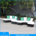 China Big Factory Sale Rattan Outdoor Round Sofa With Canopy