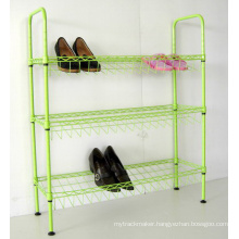 Color 3 Tier Steel Wire Shoe Display Rack Organizer (CJ-C1132E)