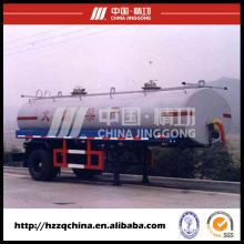 Nuevo remolque del tanque del acero de carbono 17900L Q345 para la entrega ligera del aceite diesel