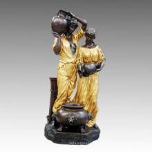 Grande figure Fontaine Couple Bronze Sculpture Tpls-059