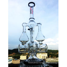China Duoble Recycler Glass Water Pipe with a Factory Price