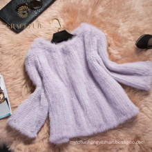 Attractive knitted mink fur coat for sale