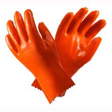 Roter PVC-Industriehandschuh mit CE-Zertifikat (GLP-010)