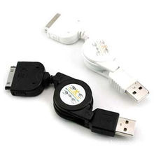 USB Retractable Cable, Used for Apple's iPod, iPhone and iPad, Available in Various Colors