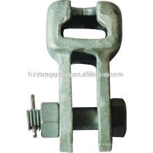 Freileitungen Zubehör Stahlmuffe-Gabelöse Auge feuerverzinkt geschmiedet elektrische Übertragung Linie Kraft Stahlturm passend