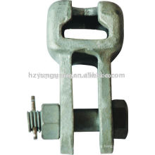 overhead lines accessories steel socket-clevis eye hot-dip galvanized forged electric transmision line power steel tower fitting
