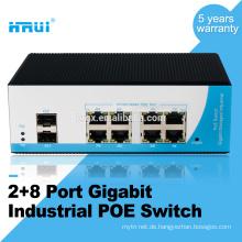Layer 2 verwaltet 2 SFP-Port-Gigabit-8-Port-Poe-Schalter im Freien
