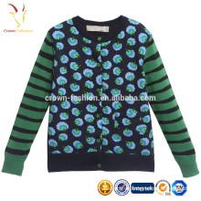 Jersey de punto de algodón de cachemira de manga larga para niños