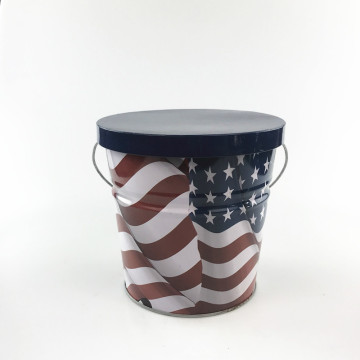 Nova Citronela Metal Bucket Candle Insetos Repelente