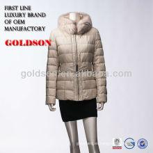 Abrigo de la chaqueta del ganso para el estilo europeo del invierno 2018