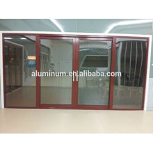 China Portas de vidro deslizantes de madeira e alumínio