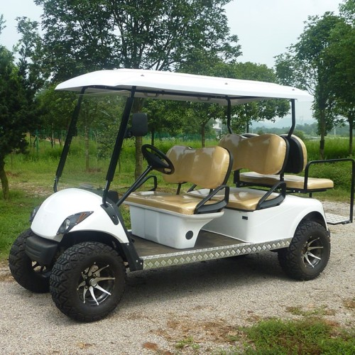 electric golf cart with off-road tire